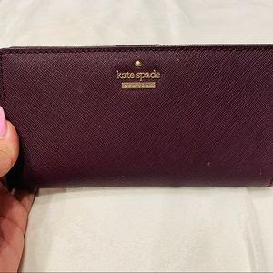 Kate Spade  ♠️ deep plum wallet